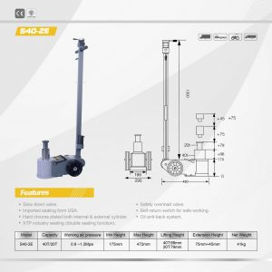 40 Tonne Two Stage Air Jack