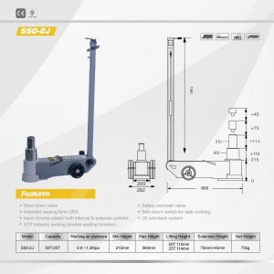 50 Tonne Two Stage Air Jack