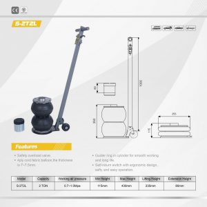 S-2T2l Two Bag Air Jack with Handle
